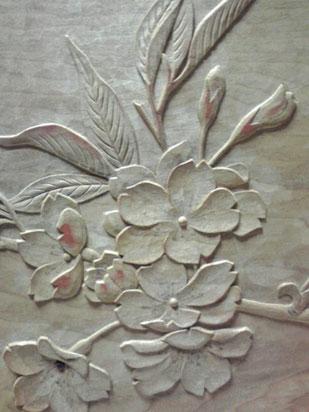 桜の手鏡|鎌倉彫 青山工房