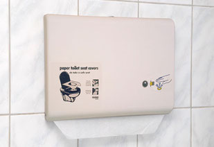 ABS no touch toilet seat dispenser