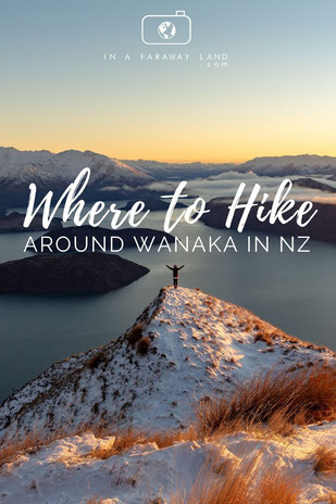 A list of the top 8 hikes around Wanaka in New Zealand including information about the length, difficulty and estimated time of the hikes. #NewZealand #Hiking