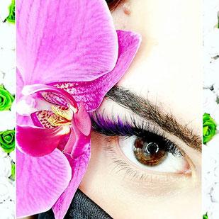 farbige Wimpern, Regenbogenfarben