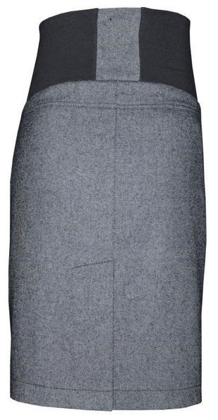 grey maternity skirt