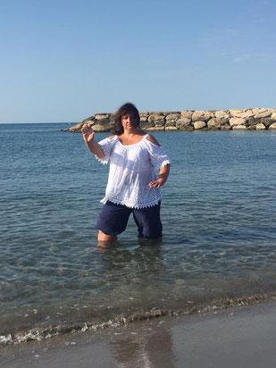 Laurence en shuto aux saintes maries de la mer !