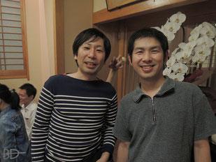 愛知の島田選手(左)&和田選手。MM仲間