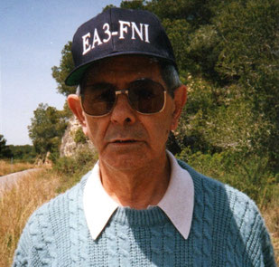 D. GERARDO OBRADOR INFIESTO, PRIMER OPERADOR DE LA ESTACION EA3FNI