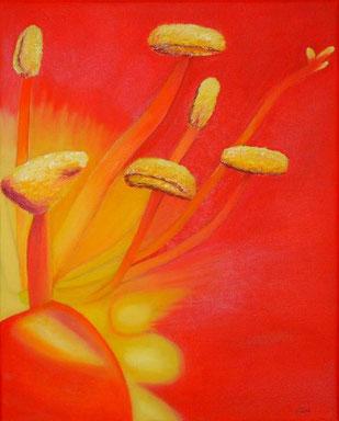 Blütenausschnitt Öl auf Leinwand (40 x 50 cm), verliehen