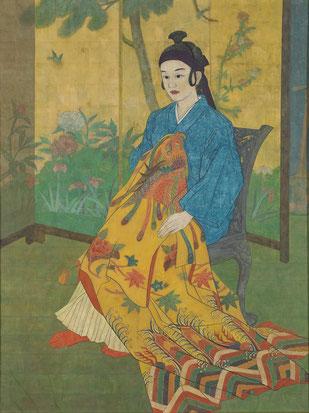「踊りこ(出の前)」 川瀬玉枝 2150×1640