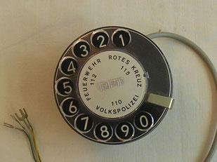 Telefon Fingerlochscheibe  Fertigungsjahr 1980