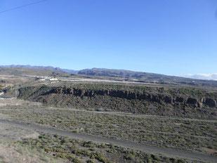 Blick von El Tablero über das Barranco