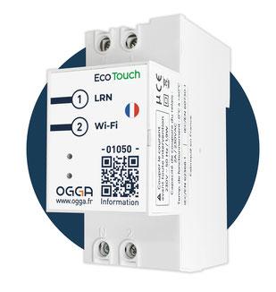 Eco-Touch, notre thermostat connecté, s'implante dans le tableau électrique d'où il pilote l'ensemble des fonctionnalités du logement