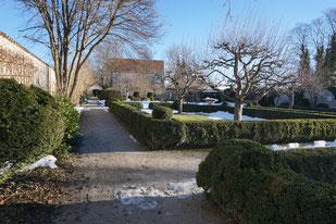 Schlossgarten Starnberg am Starnbergersee in Bayern