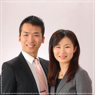 代表とその妻の写真
