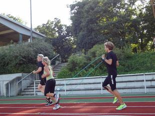Laufen mit Pose Methode und Stretchbändern