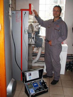Jean-François Berthet en intervention, dépannage chaudière gaz