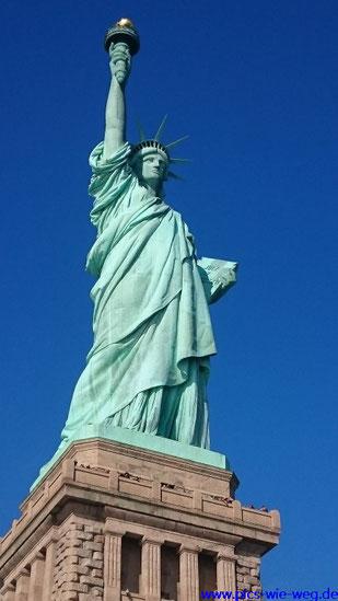 Die Freiheitsstatue oder wie die Amis sagen Lady Liberty auf Liberty Island