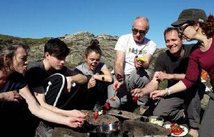 balade fondue hocolat famille groupe ariège pyrénées babeth