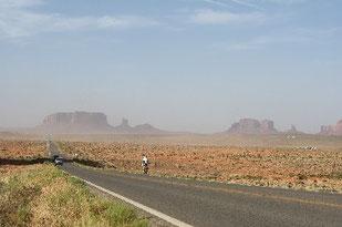 Viel Zeit zum Genießen der Landschaft im Monument Valley.