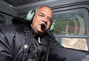 Im Hubschrauber bei der Langdistanz-DM 2011