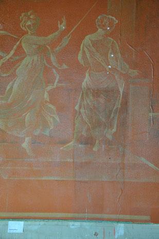 Pierre Estoppey, Nord-Wand, während der Oberflächenreinigungen, Atelier Bacher Tillmanns Vaud