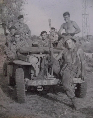 460th troopers around the Drop Zones, August 1944