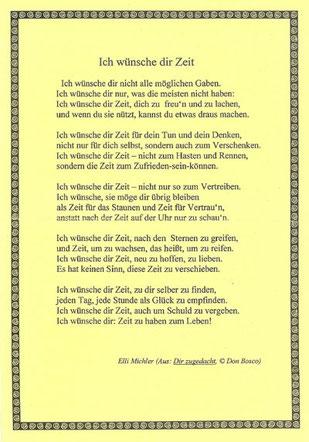 Ich wünsche dir Zeit, von Elli Michler (PDF)