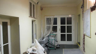Vorher: Foto von den Sanierungsarbeiten 2013