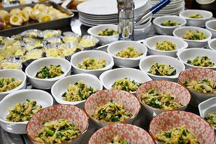 味玉、ポテトサラダ、白菜の和え物♡