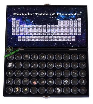 set elementi della tavola periodica, valigetta elementi tavola periodica