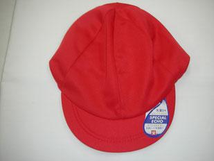 体育用紅白帽子 ニット