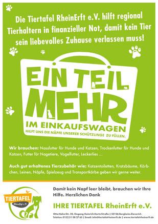 Ein Teil mehr im Einkaufswagen - Tiertafel RheinErft e.V.