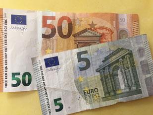 55 Euro vom Straßenfest, Foto: Plück