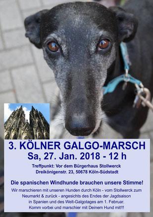 Plakat Galgo-Marsch