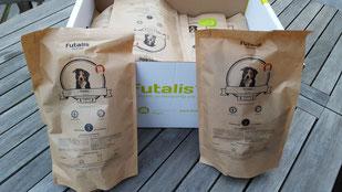 Futterprobe von Futalis für Tiertafelschützling Tonic