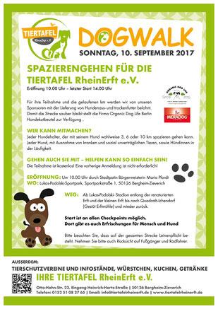 Plakat zum Dogwalk 2017