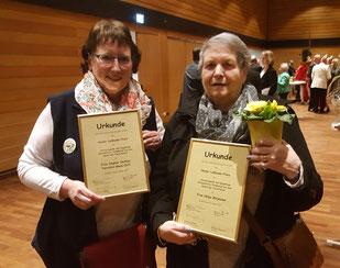 Dagmar Oetken und Helga Börjesson, ehemaliges Tiertafel-Mitglied