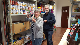 Inge und Werner bei der Inventur, Foto: Oetken