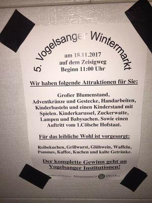 Internetfund Plakat 5. Vogelsanger Wintermarkt