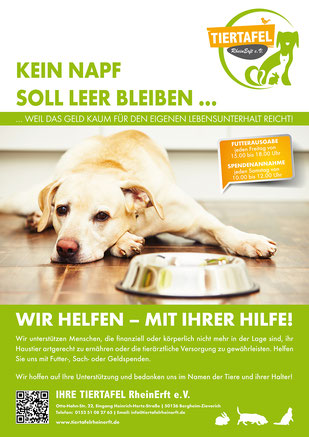 Plakat der Tiertafel RheinErft e.V.