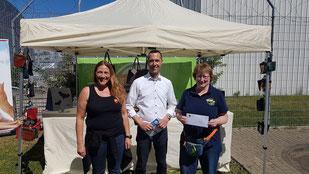 Sandra Neubert, Bürgermeister Dieter Spürck, Dagmar Oetken, Foto: Moehrke