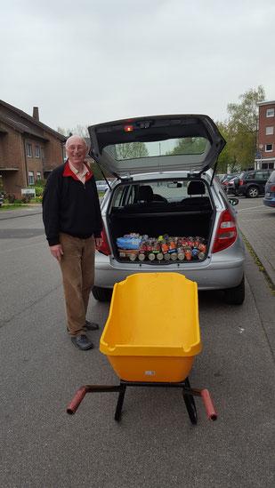 Herr Jendahl, ein lieber Spender, Foto: Oetken