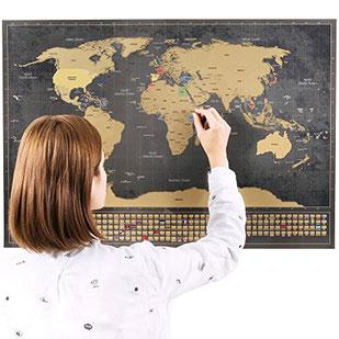 Geschenkideen Reisen: Rubbel Weltkarte