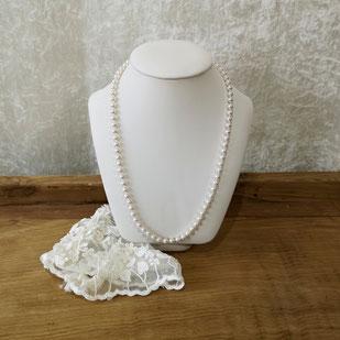 collier avec perles de Majorque taille Matinée