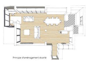 Atelier sur les toits pièce de vie décoration