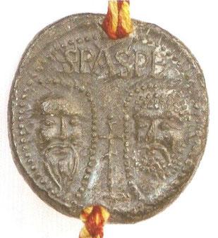 Bulle du pape Innocent IV pour l'abbaye de Chaalis, 1250. Temple de Paris