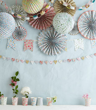 DECO BABY SHOWER LIBERTY- BABY SHOWER FILLE- LIBERTY BABY SHOWER DECORATION
