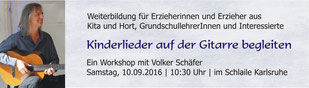 Gitarre Workshop, Volker Schäfer