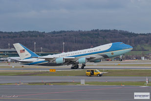 """World Economic Forum 2018 - President of the United States of America Donald J. Trump with """"Air Force One"""""""