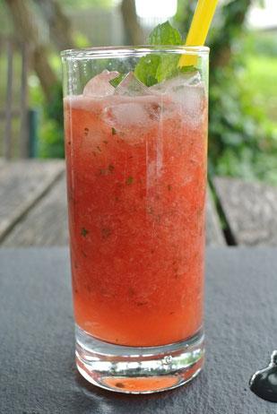 Mojito mit Wassermelone und Minze (auch für Thermomix)