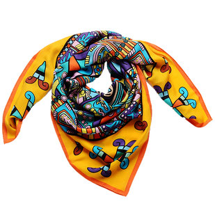Oranger Maya Schal Wolle
