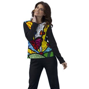 Damen Pyjama schwarz mit Britto Motiv