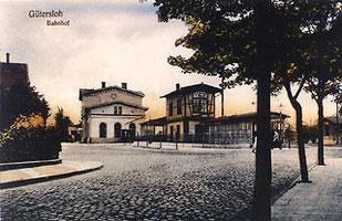 Der Bahnhof der Köln-Mindener-Bahn von der Kirchstraße 1908